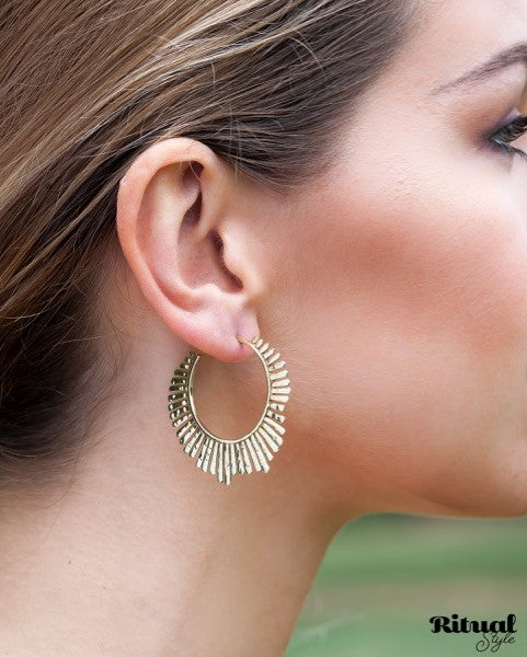 Ritual Sunburst Hoops