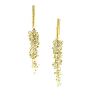 SE085CT 18k Gold Plated Earrings with Citrine