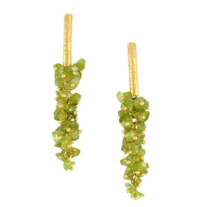 SE085PD 18k Gold Plated Earrings with Peridot