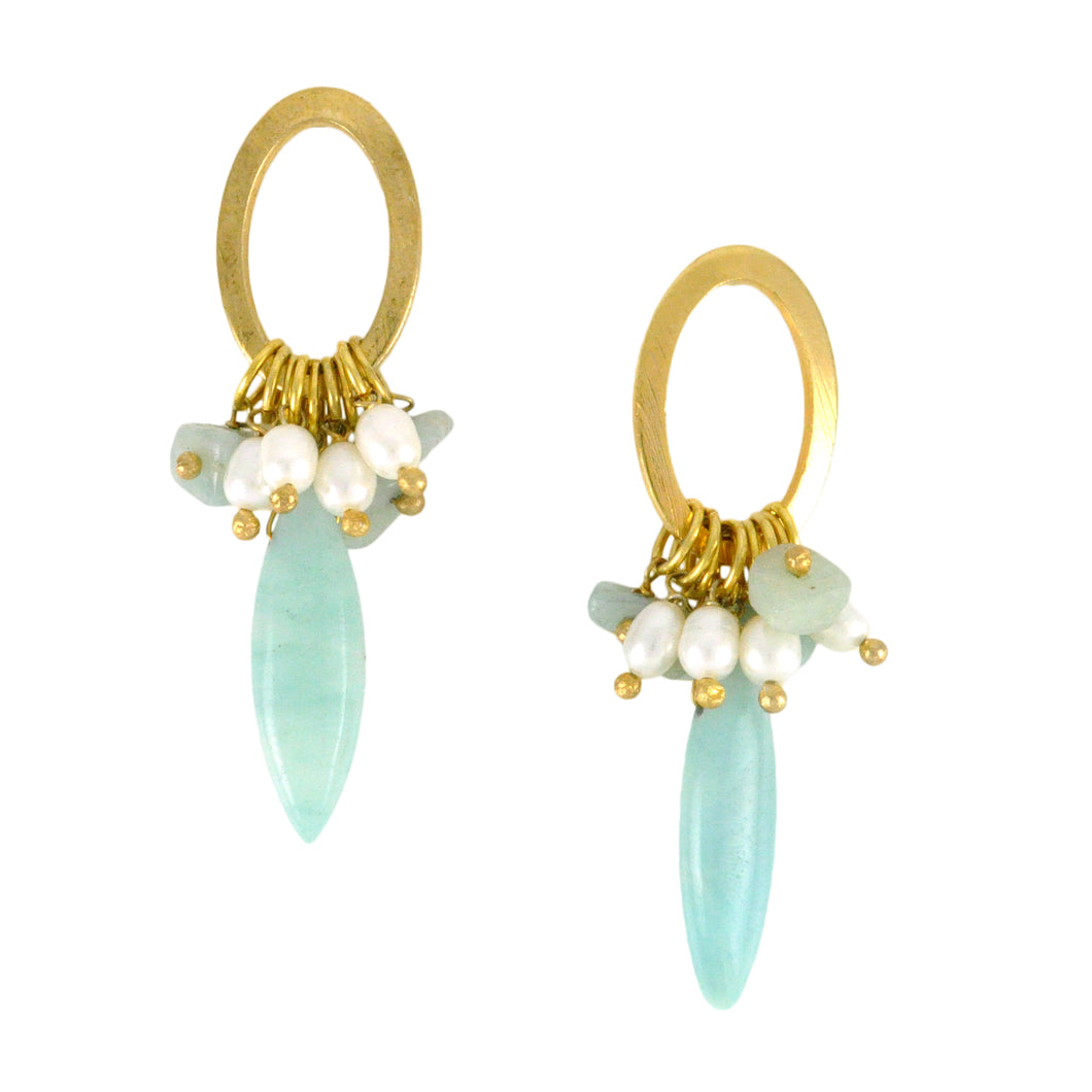 SE301AZ Loop Earrings with Amazonite