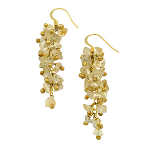 SE472CT Grape Cluster Earrings with Citrine