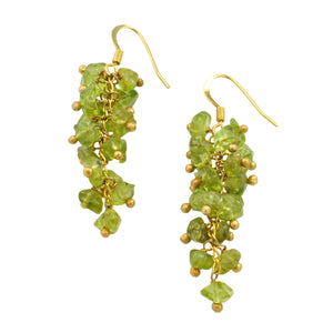 SE472PD Grape Cluster Earrings with Peridot