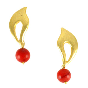 SE490CO Earrings with Coral