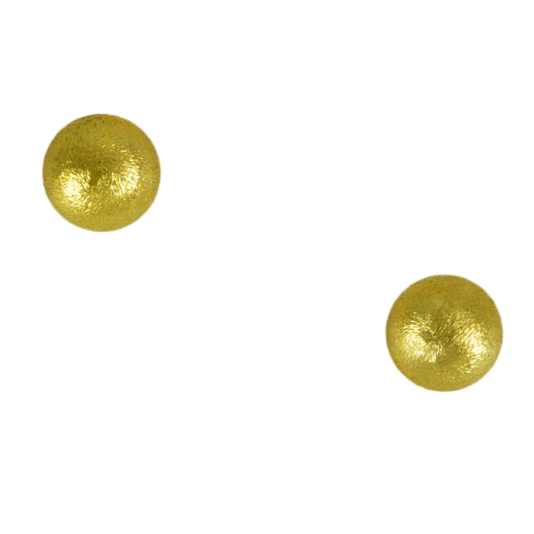 SE493 Large 18k Gold Plated Ball Earrings