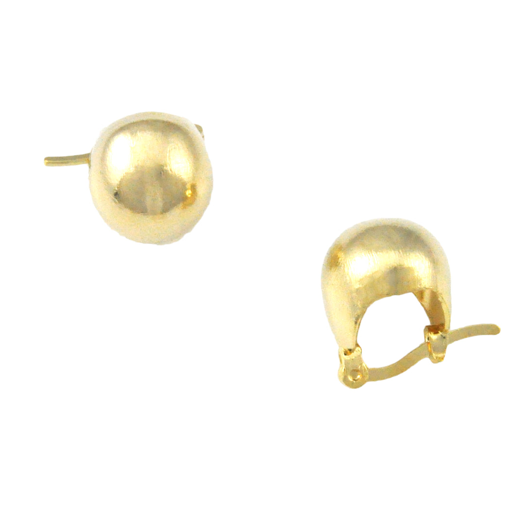SE498 Small 18k Gold Plated Ball Earrings