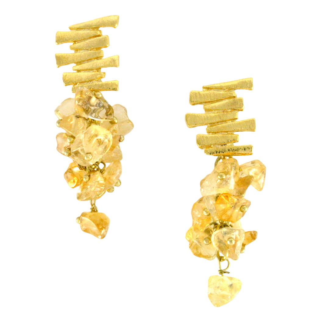 SE547CT Earrings with Citrine