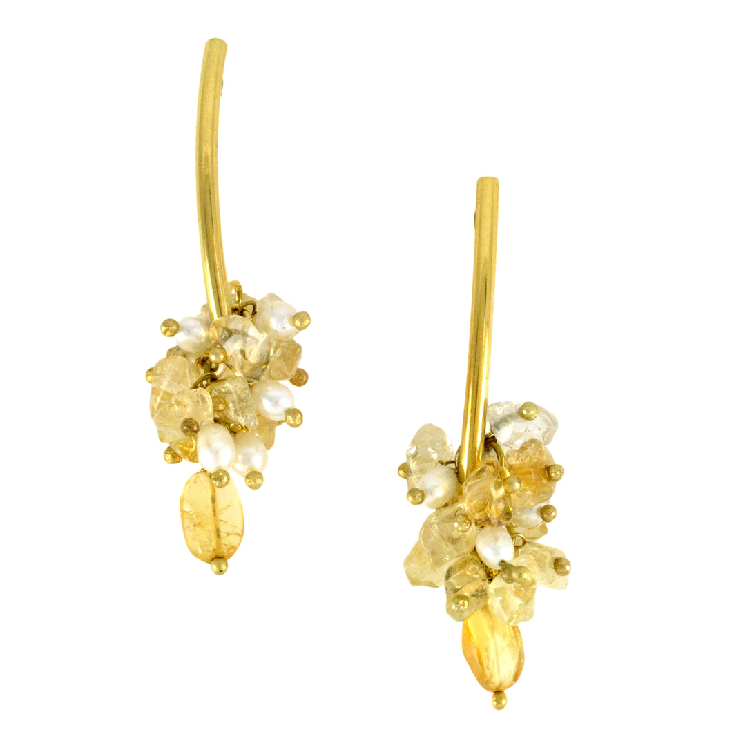 SE577CT Earrings with Citrine