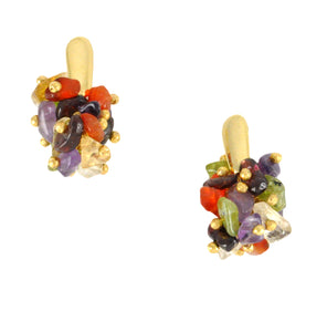 SE592 18k Gold Plated Earrings with Semiprecious Stones