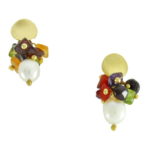 SE594 Earrings with Semiprecious Stones