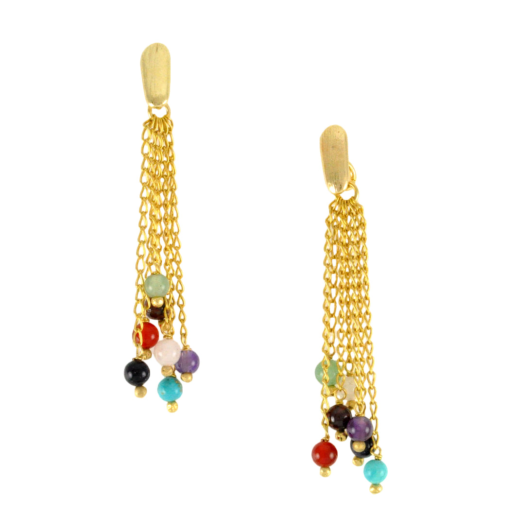 SE606 Earrings with Semiprecious Stone Balls