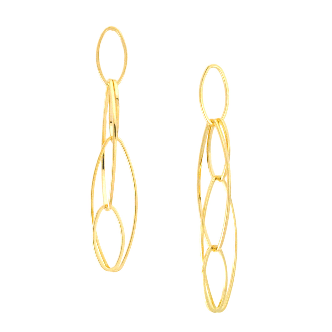 SE621 Ovals Within Ovals Earrings