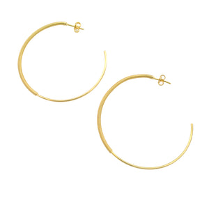 SE648LG 18k Gold Plated Hoops