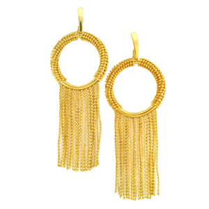 SE672 18K Gold Plated Earrings with Fringe