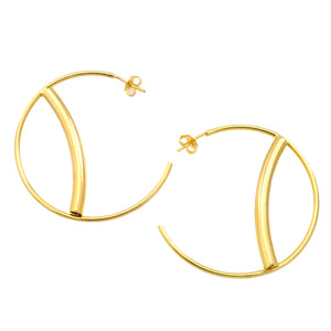 SE701 18k Gold Plated Hoop Earrings