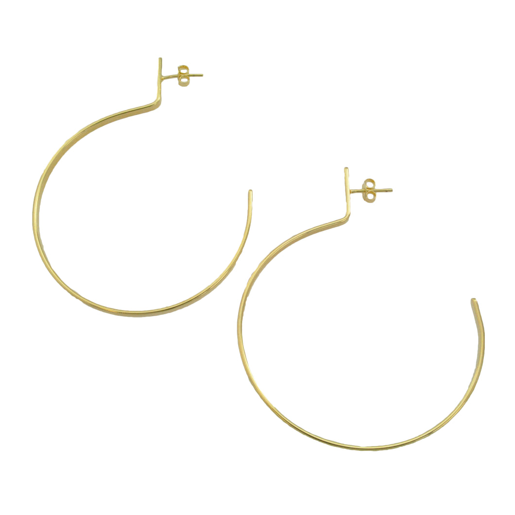 SE705SM 18k Gold Plated Hoop Earrings
