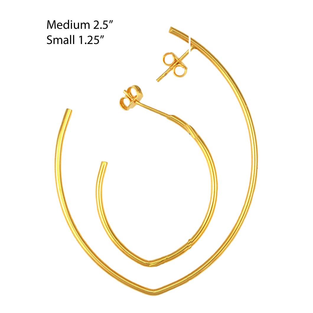 SE710MD Gold Plated Earrings