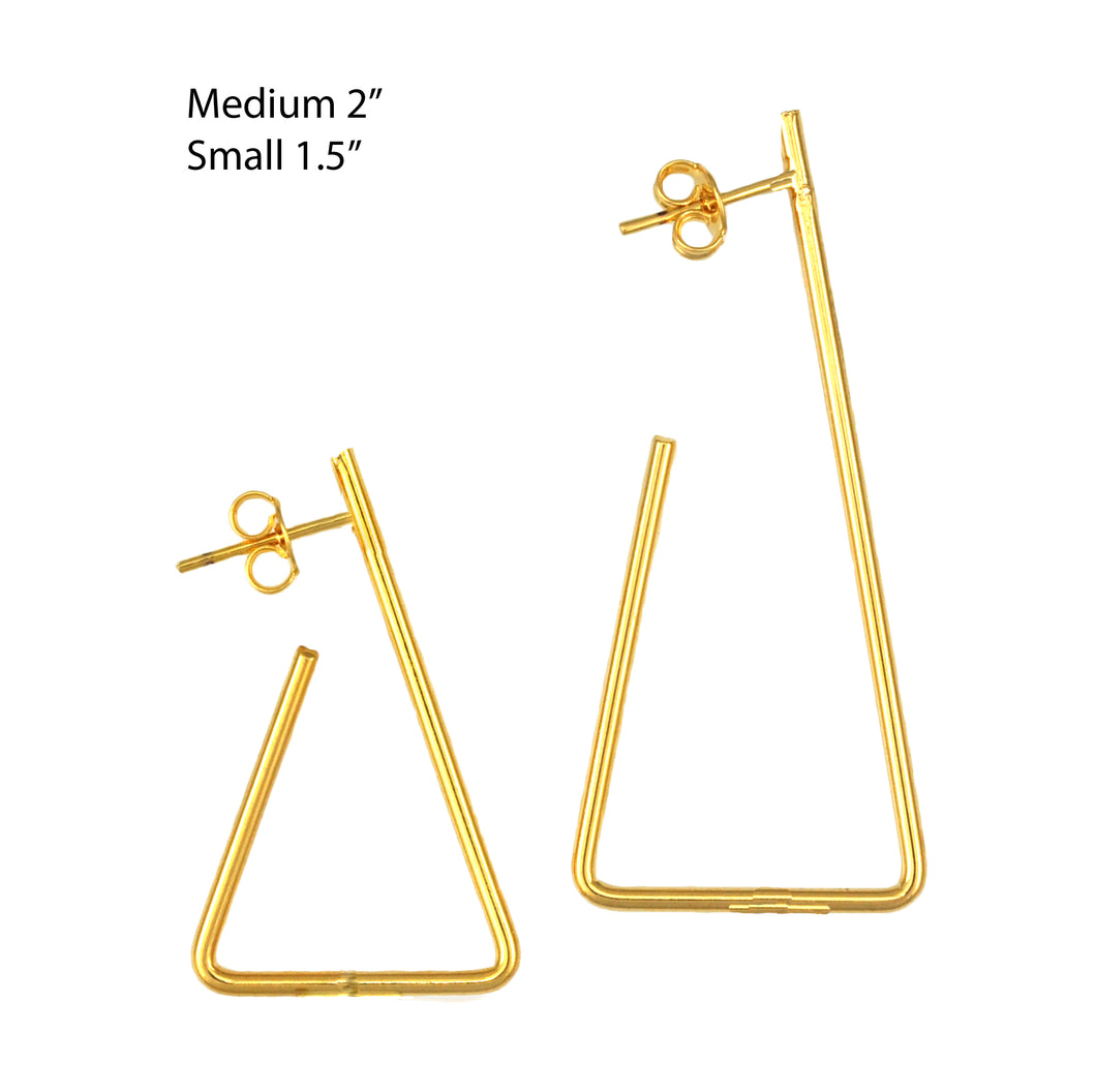 SE711MD Gold Plated Earrings