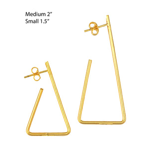 SE711SM gold plated earrings