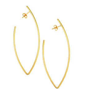 SE716 18k Gold Plated Hoop Earrings