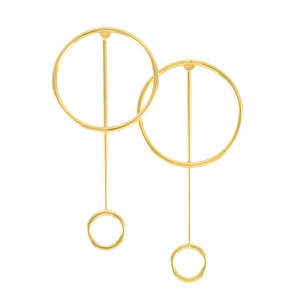 SE722 18k Gold Plated Earrings