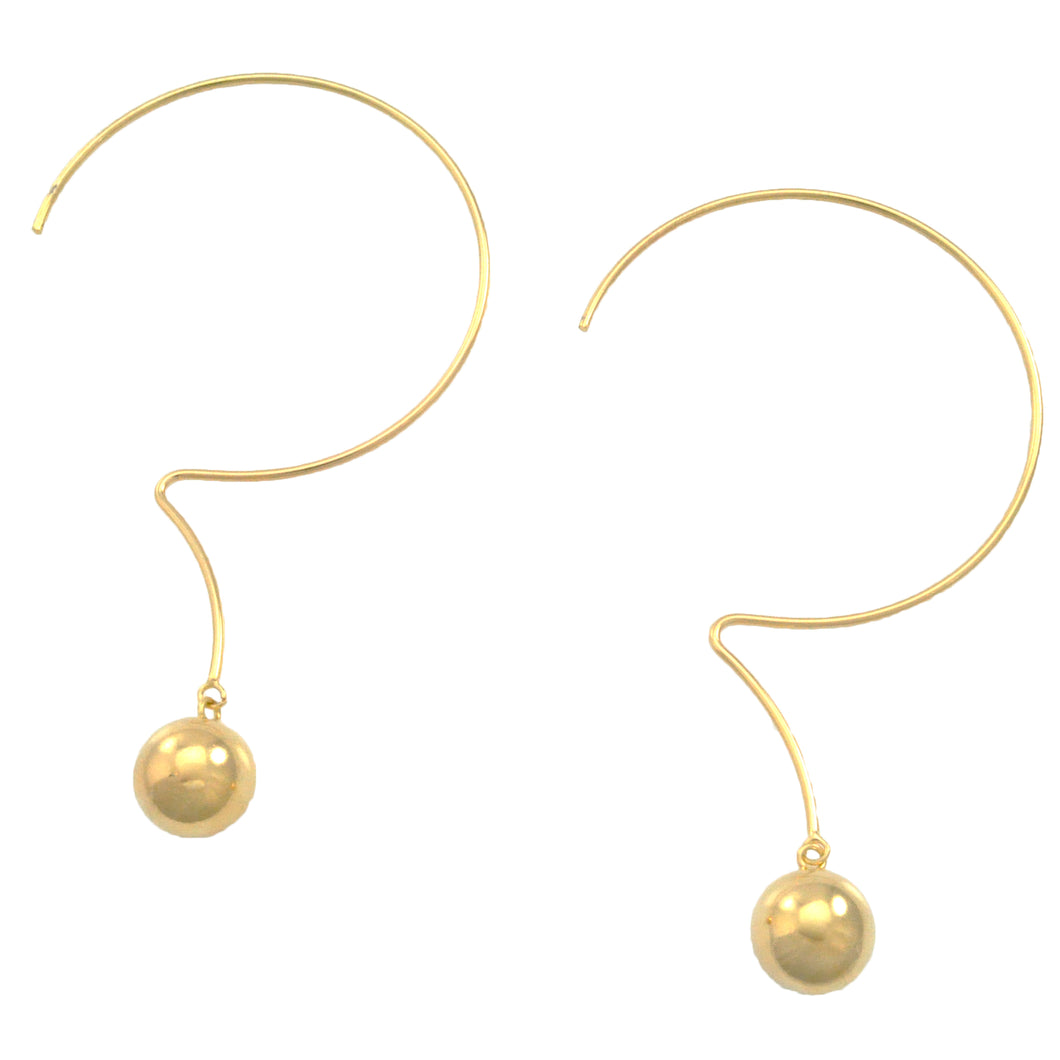SE730 18k Gold Plated Hoop Earrings