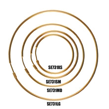 Load image into Gallery viewer, SE731MD 18k Gold Plated Hoops