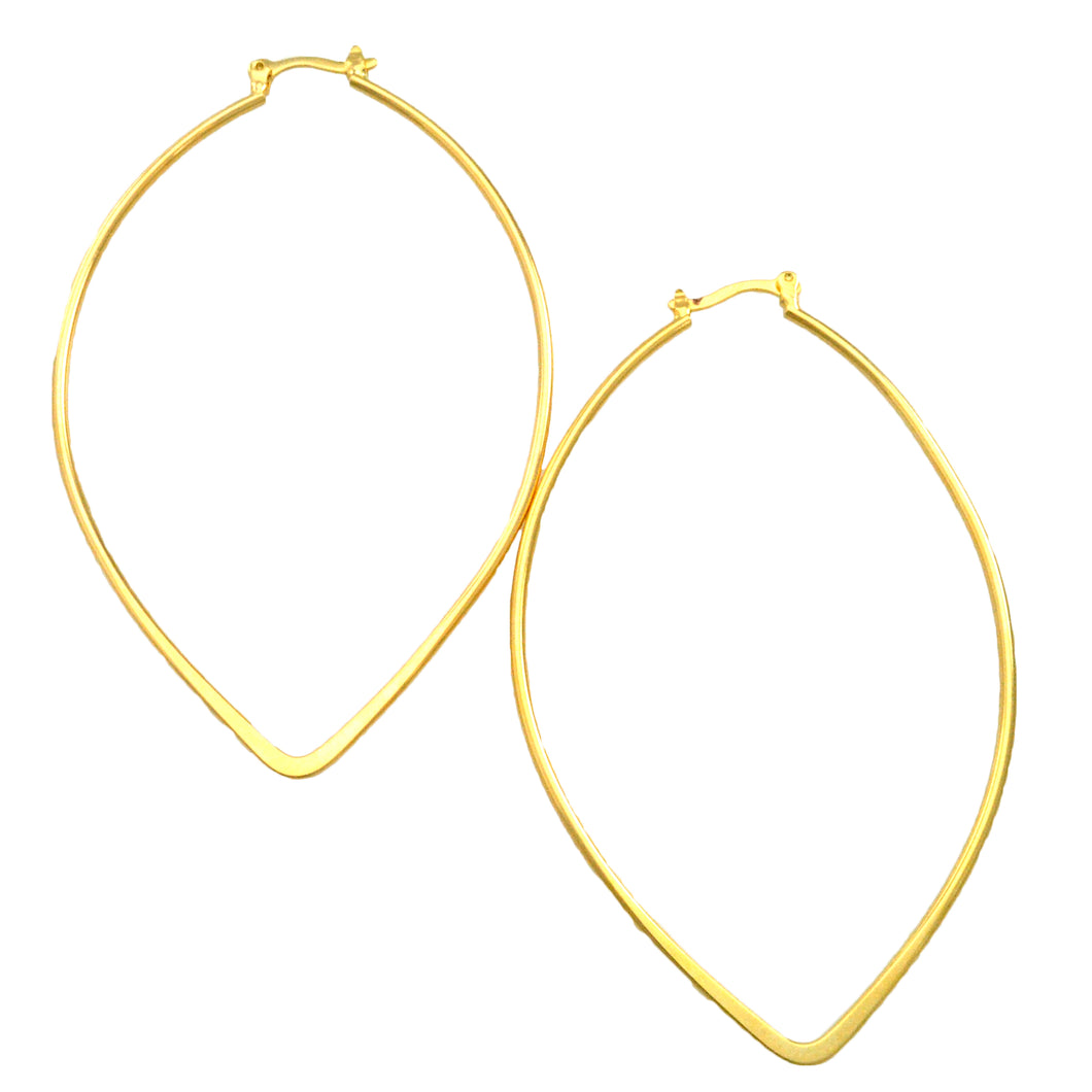 SE732 18k Gold Plated Hoop Earrings