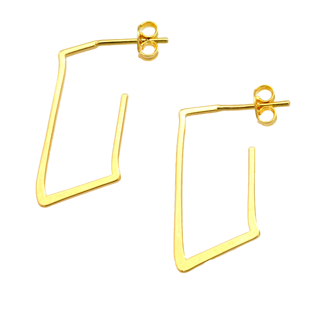 SE735 18k Gold Plated Hoop Earrings