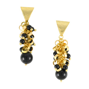 SE744 Onyx and Gold Earrings