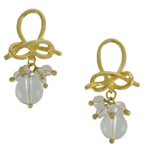 SE745CQ Gold and Clear Quartz Earrings