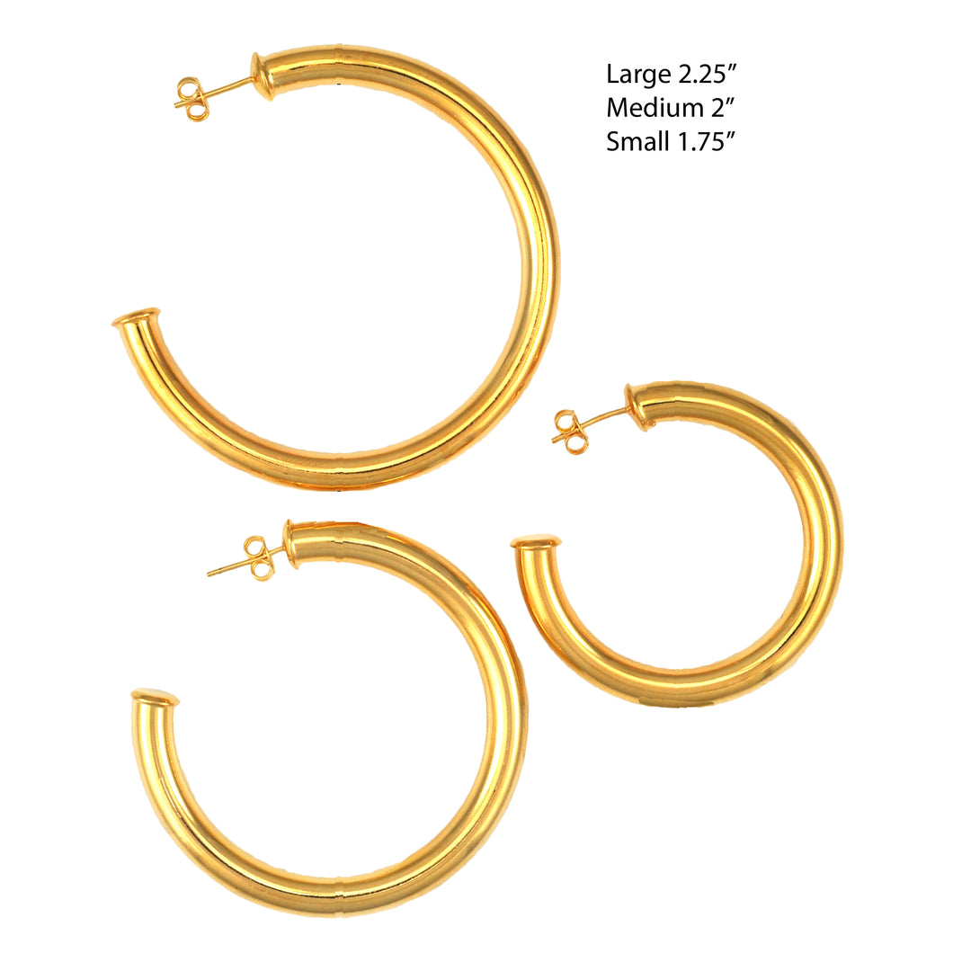 SE759ASM 18k Gold Plated Hoops