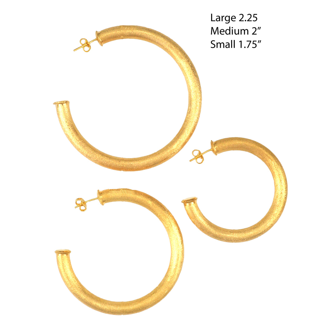 SE759BMD 18k Gold Plated Hoops