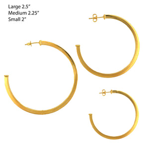 SE762AMD Gold Plated Hoops