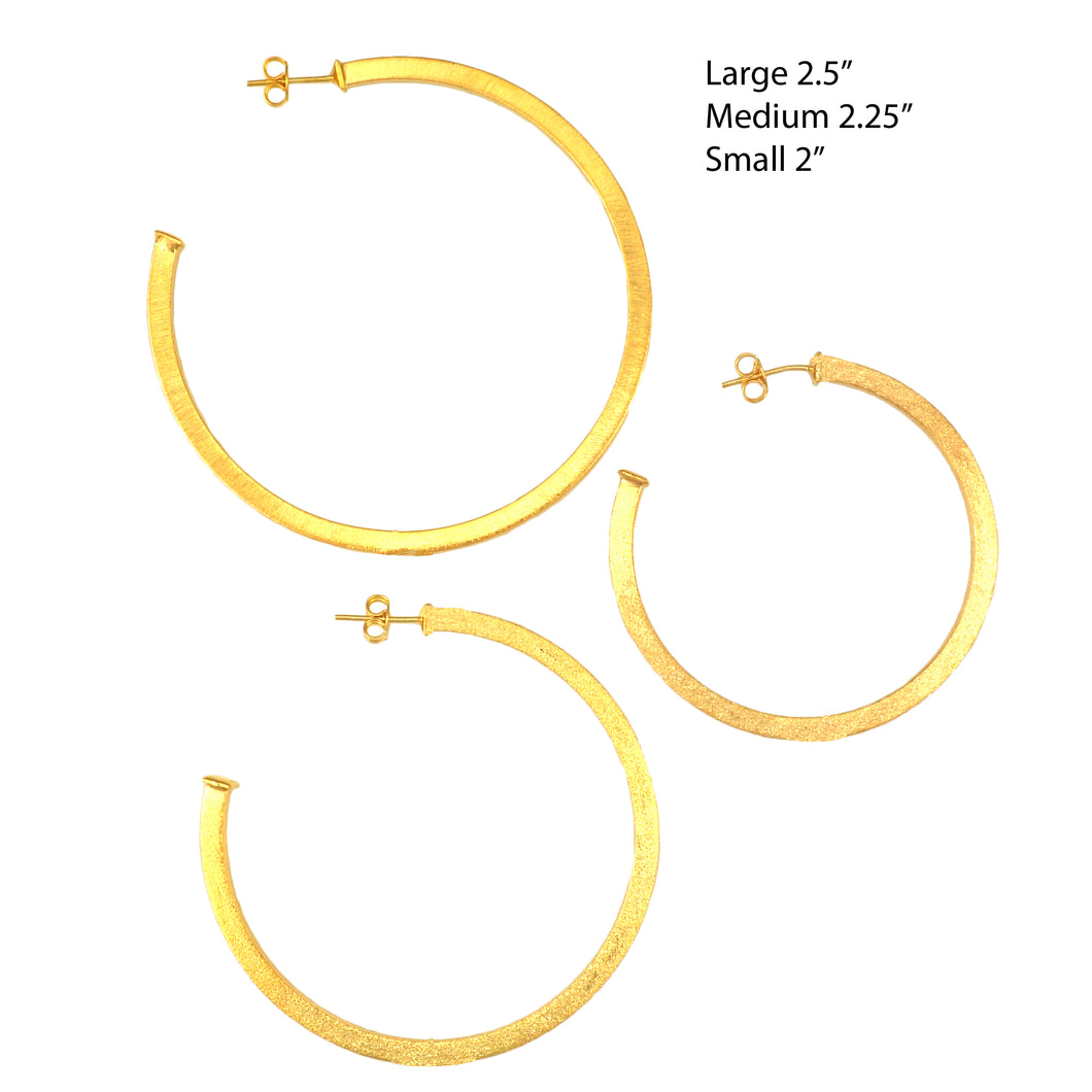 SE762BMD 18k Gold Plated Hoops