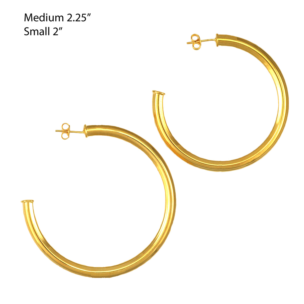 SE763ASM 18k Gold Plated Hoops