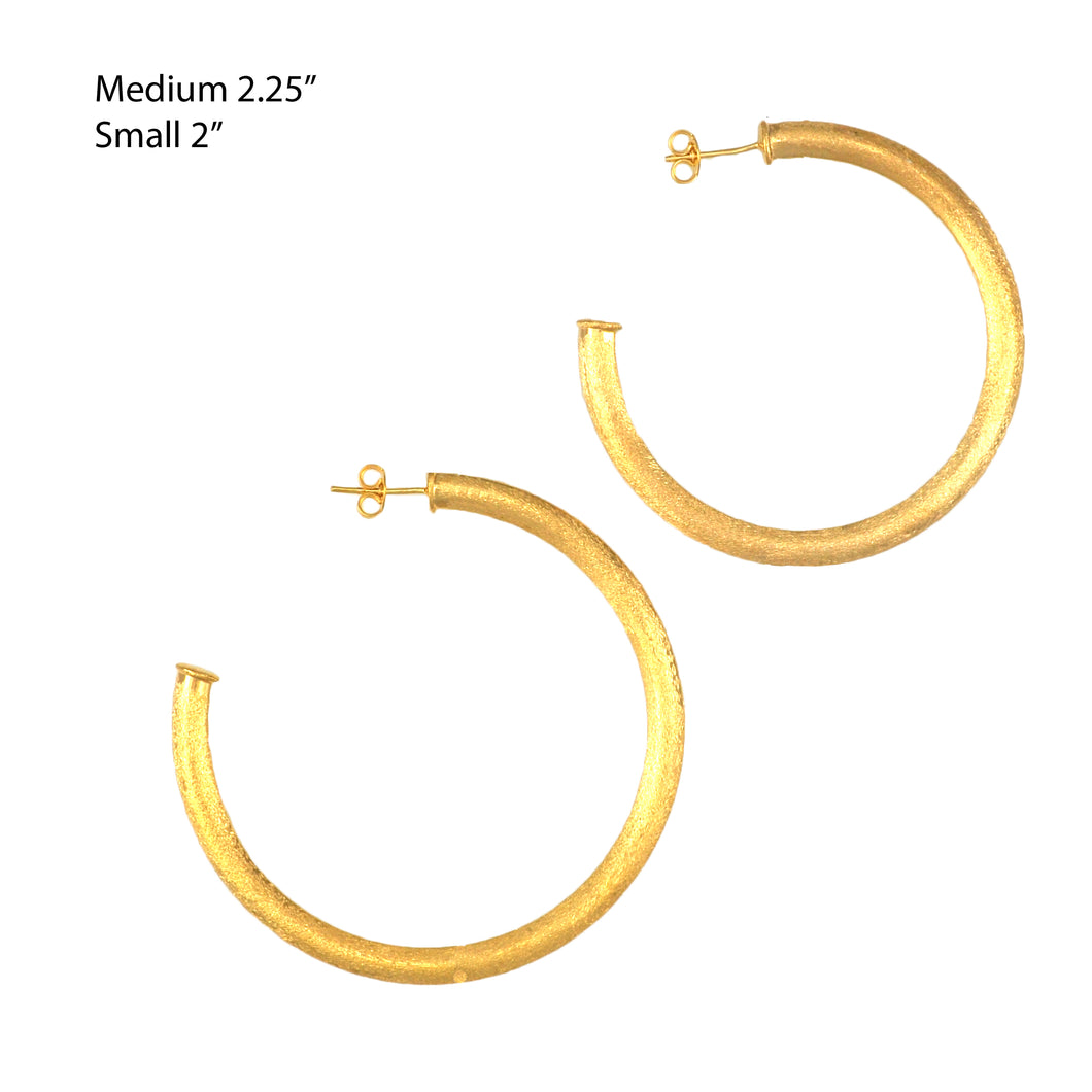 SE763BMD Gold Plated Hoops