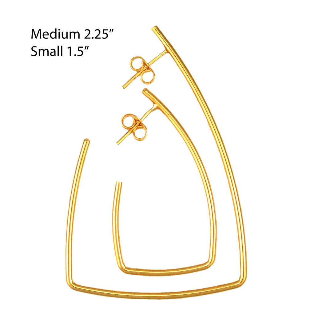 SE766SM Gold Plated Earrings