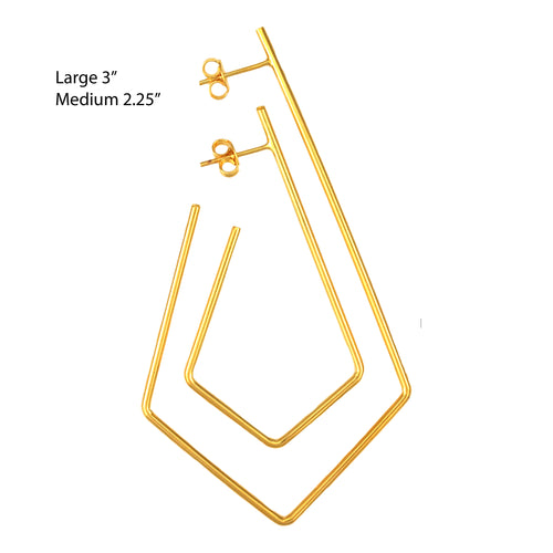 SE767LG Gold Plated Earrings