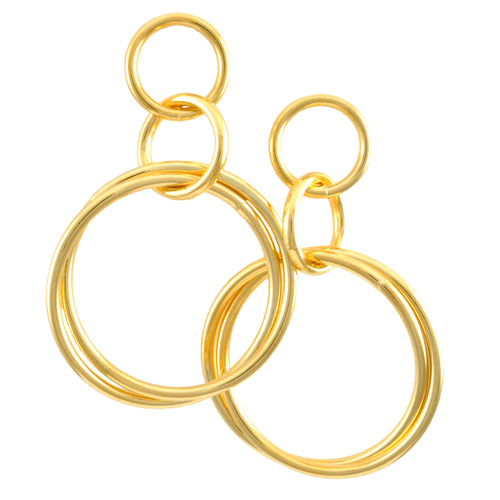 SE770LG 18k Gold Plated Interconnected Hoops