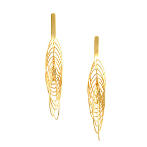 SE771 Many-Looped Gold Earrings