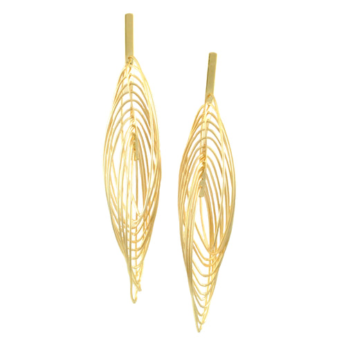 SE773 Many-Looped Gold Earrings