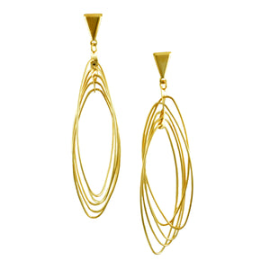 SE774 Many-Looped Gold Earrings