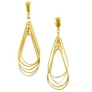 SE775 Many-Looped Gold Earrings