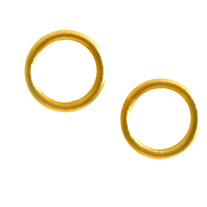 SE777B 18k Gold Plated Tubular Earrings