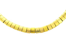 Load image into Gallery viewer, SN212B Natural Fiber Necklace with Gold Plated Rings