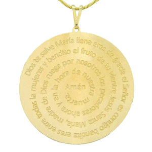 SN236SM Gold Chain with Spanish Prayer Inscribed (sm)