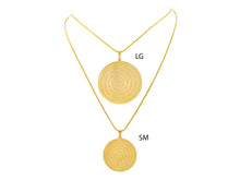 Load image into Gallery viewer, SN246LG Gold Chain with Spanish Prayer Inscribed (lg)