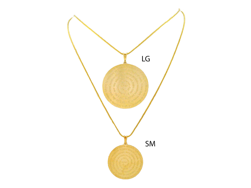 SN246LG Gold Chain with Spanish Prayer Inscribed (lg)