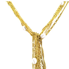 Load image into Gallery viewer, SN249FP 18k Gold Plated Necklace with Fresh Water Pearls