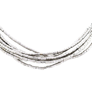 SN281R Leather Necklace with Rhodium
